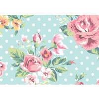 Cushion Design 4 lü Flower Amerikan Servis - Turkuaz