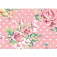 Cushion Design 4 lü Flower Amerikan Servis - Pembe
