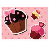 Cushion Design 4 lü Cupcake Pembe Amerikan Servis