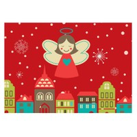 Cushion Design 4 lü Christmas Angel Amerikan Servis