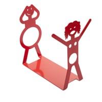 Chic Metal Kadın Erkek Şaraplık - Kırmızı