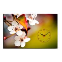 Mania Beyaz Orkide Görüntüsü 45x70 cm Kanvas Saat