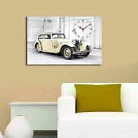 Mania Antika Araba 45x70 cm Kanvas Saat