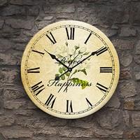 Frank Ray 60 cm Mdf Duvar Saati Çiçek Göbekli
