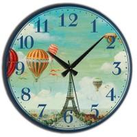 Frank Ray Mdf Duvar Saati Balon Desen 60 cm