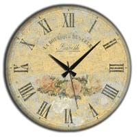 Frank Ray 60 cm MDF Wall Clock Çiçekler