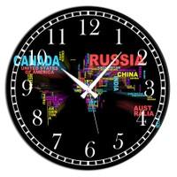 Frank Ray 60 cm MDF Wall Clock Russia Desen