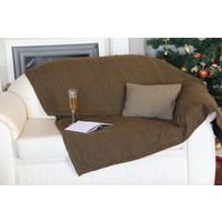Yeni Yün Christoff Koltuk Şalı - Throw - Macchıato - 150x150 cm