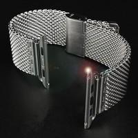 Markacase Apple Watch 38 Mm Paslanmaz Çelik Kayış Kordon Burgu Model Kılıf