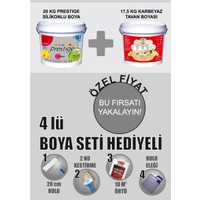 Pamukkale Prestige Silikonlu+Tavan Boya+Boyacı Set