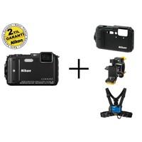 Nikon Aw130 (Black) Outdoor Kit Aynasız Fotoğraf Makinesi