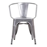 Şaziye Metal Tolix Kollu Sandalye- Gri