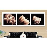 Bonaviya Çiçek XXL Boy Kanvas Tablo -120x40 cm
