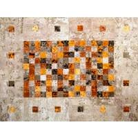 Tappeto Antik Patchwork Multi Turuncu-80 x 200 cm