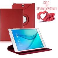 CoverZone Samsung Galaxy Tab E T560 Kılıf Kırmızı