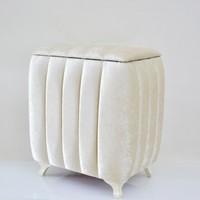 Cebay Home Lüks Dilim Desen Çamaşır Sepeti (Krem)