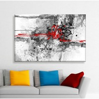 Bonaviya Soyut Çizgiler Kanvas Tablo 50x70 cm