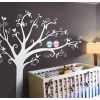 Besta Mavi Pembe Baykuş Duvar Sticker