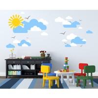 Besta Duvar Sticker Güneş ve Bulutlar