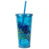 Coolgear Kokusuz 710 Ml Mavi Çift Duvar Bardak