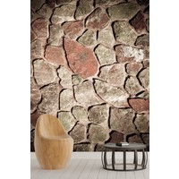 Pidekorasyon Taş Duvar Desenli Duvar Kağıdı - 2127
