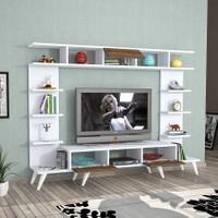Hepsiburada Home Pan Tv Ünitesi Retro Ayaklı - Beyaz