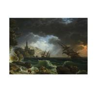 ARTİKEL Claude Joseph Vernet - Claude-Joseph Vernet - A Shipwreck in Stormy Seas 50x70 cm KS-1437