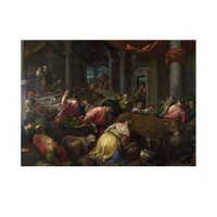 ARTİKEL Jacopo Bassano - The Purification of the Temple 2 50x70 cm KS-1287