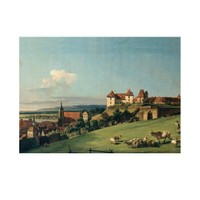 ARTİKEL Bernardo Bellotto - View of Pirna from the Sonnenstein Castle 50x70 cm KS-1243