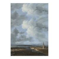 ARTİKEL Jacob Van Ruisdael - A Panoramic View of Amsterdam looking towards the IJ 50x70 cm KS-1503