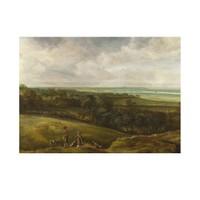 ARTİKEL Cornelis van der Schalcke - An Extensive River Landscape 50x70 cm KS-1322