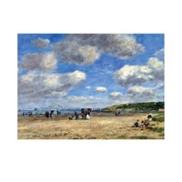 ARTİKEL Eugène Boudin - The Beach at Tourgéville Les Sablons 50x70 cm KS-1309