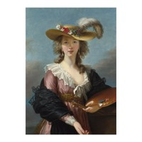 ARTİKEL Elizabeth Louise Vigée Le Brun - Self Portrait in a Straw Hat 50x70 cm KS-1460