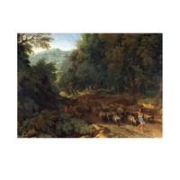 ARTİKEL Gaspard Dughet - Landscape With a Shepherd and His Flock 50x70 cm KS-1337