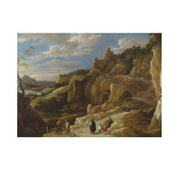 ARTİKEL David Teniers the Younger - A Gipsy Fortune Teller in a Hilly Landscape 50x70 cm KS-1440