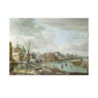 ARTİKEL Aert Van Der Neer - A Frozen River near a Village 50x70 cm KS-1392