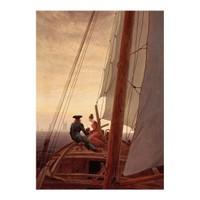 ARTİKEL Caspar David Friedrich - On a Sailing Ship 50x70 cm KS-1251