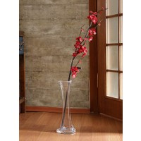 Yedifil Küt Bahar Dalı Kırmızı Yapay Çiçek