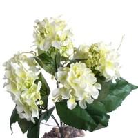 Yedifil Dahlia Beyaz Yapay Çiçek