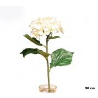 Yedifil Geniş Ortanca Beyaz Yapay Çiçek