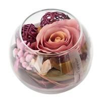 Casa di Mona Cam Fanus İçinde Doğal Malzemeler İle Dekore Edilmiş Yapay Çiçek