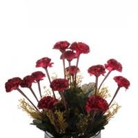 Yedifil Büyük Karanfil Kırmızı Yapay Çiçek