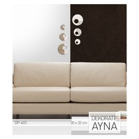 ARTİKEL Retro Daireler Ayna Sticker 30x32 cm DP-403