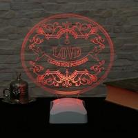 Dekorjinal 3 Boyutlu Love Aşk Lamba V23D094