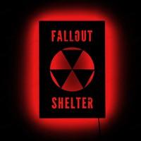 Dekorjinal Gölge Lamba Fallout shelter sembolü GLMB006