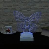 Dekorjinal 3 Boyutlu Kelebek Lamba V23D069