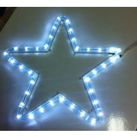 Hizmark 30X30 Yıldız Ledli Yılbaşı Süsü Beyaz Işık