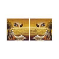 ARTİKEL Woman Eyes 2 Kanvas Tablo 80x40 cm KS-801