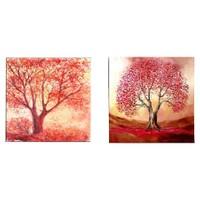 Arte Kırmızı Ağaçlar Kanvas Tablo