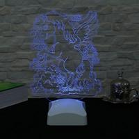 Dekorjinal 3 Boyutlu Kanatlı At Lamba V23D201